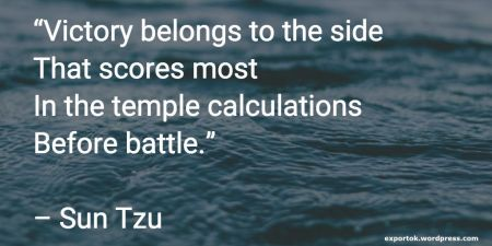Secoli di storia insegnano: senza calcoli logistici ed una strategia di export ed internazionalizzazione meditata, si viene sconfitti dalla concorrenza - i mercati non sono opportunita', sono campi di battaglia