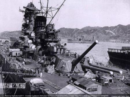 La strategia della deterrenza e' ben esemplificata da una corazzata della classe Yamato