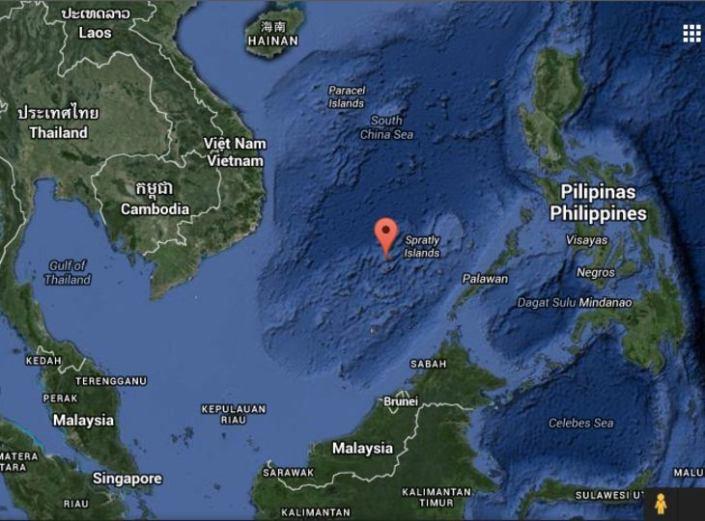 Le isole Spratly, da Google Maps