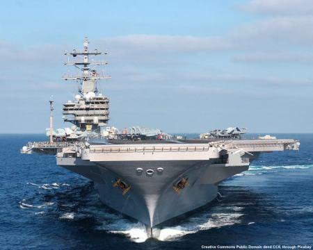Portaerei USA - Il Mar Cinese Meridionale e' una delle aree piu' a rischio, tanto che alcuni predicono che li' comincera' un conflitto