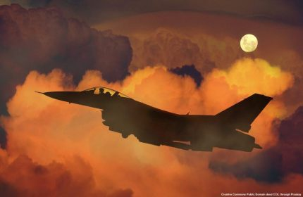 Fighter jet and siria