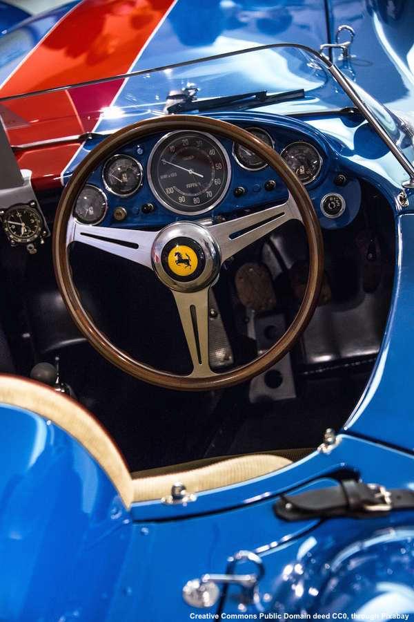 Export del made in Italy - una Ferrari