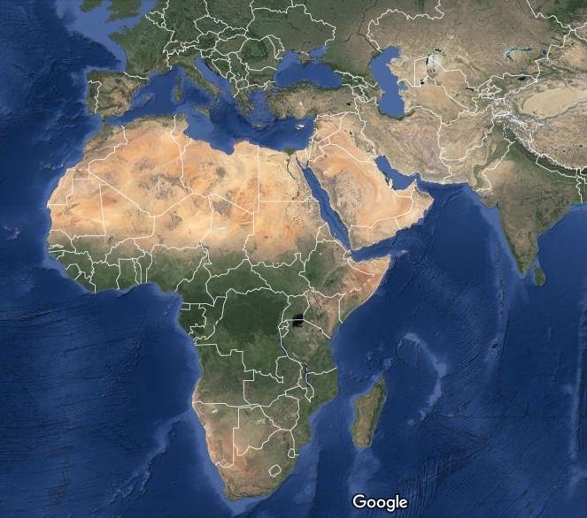 Che il Medio Oriente si trovi in posizione strategica, risulta evidente da questa fotografia satellitare
