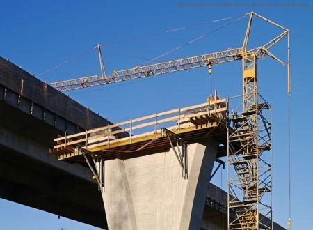 Cantiere edile per la costruzione di infrastrutture