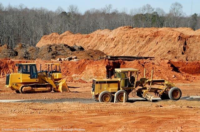 Cantiere per infrastrutture all'estero e costruzioni