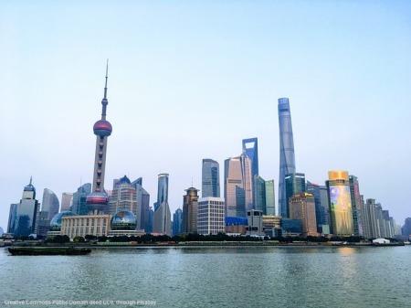 Geopolitica e grande citta' costiera di Shanghai