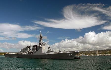 Un cacciatorpediniere USA della classe DDG-51, come quelli che hanno lanciato i missili cruise contro la Siria. Tali unita' entrano spesso nel Mar Nero, di solito per esercitazioni congiunte in funzione anti-russa