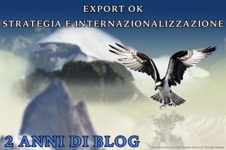 Il blog Export OK - Strategia e Internazionalizzazione da piu' di 3 anni. L'immagine risale al 2017