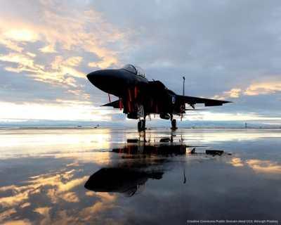 Caccia americano F-15, come quelli sauditi e quelli che dovrebbe ricevere il Qatar