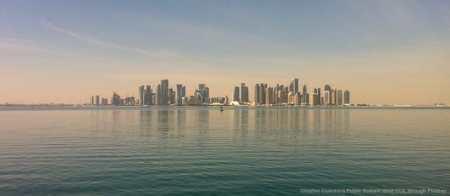 Doha, capitale del Qatar, illustra bene l'importanza geopolitica della sicurezza dei mari - in questo caso il Golfo Persico - dei porti, degli stretti, ecc.