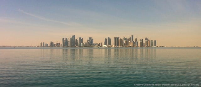Geopolitics - Doha, Qatar's capital, gives an idea of how important sea control is for the country