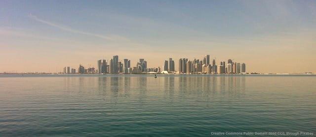Doha, capitale del Qatar. La base turca si trova in una posizione strategica del Golfo persico
